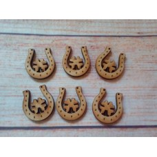 Mini Clover Leaf Horse shoes Pack of 10